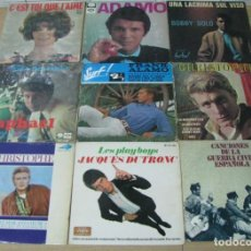 Discos de vinilo: LOTE DE 9 DISCOS SINGLES,DIFERENTES CANTANTES. Lote 140023794