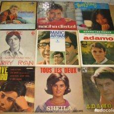 Discos de vinilo: LOTE DE 9 DISCOS SINGLES,DIFERENTES CANTANTES. Lote 140024174
