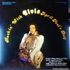 Discos de vinilo: ELVIS PRESLEY - ROCKIN APRIL FOOL DAY - LP 1980. Lote 140029922