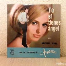 Discos de vinilo: DISCO VINILO SINGLE *TÚ SI TIENES ÁNGEL* DE MIGUEL RÍOS. PHILIPS 1964.. Lote 140034734