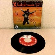 Discos de vinilo: DISCO VINILO SINGLE *X FESTIVAL DE LA CANCIÓN SANREMO 1960*. DOMENICO MODUGNO Y SU ORQUESTA. Lote 140035978