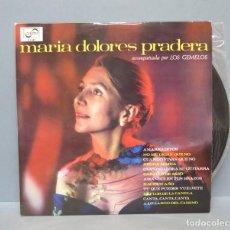 Discos de vinilo: LP. MARIA DOLORES PRADERA ACOMPADA DE LOS GEMELOS. CON AUTOGRAFO DE LA CANTANTE. Lote 140045214