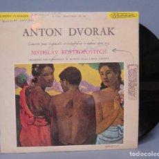 Discos de vinilo: AUTOGRAFO DE MSTISLAV ROSTROPOVITCH. LP. ANTON DVORAK. CONCIERTO PARA VIOLONCELLO. OP. 104. ED. FRAN. Lote 140064494