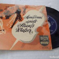 Discos de vinilo: MANTOVANI, SPIELT STRAUB WALZER.. Lote 140069850