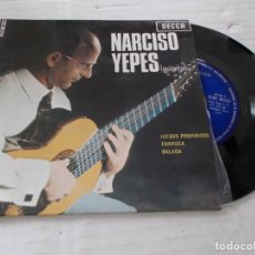 Discos de vinilo: NARCISO YEPES. JUEGOS PROHIBIDOS. FARRUCA, BALADA.. Lote 140070626