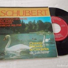 Discos de vinilo: SCHUBERT. MOMENTO MUSICAL. AVE MARIA. SERENATA. MARCHA MILITAR.. Lote 140070822