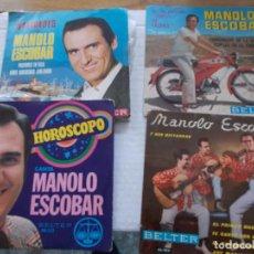 Discos de vinilo: LOTE DE SINGLES, EPS, DE MANOLO ESCOBAR. Lote 140072418