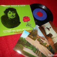 Discos de vinilo: MARUXA VILLANUEVA CAMIÑO BRANCO/PASA RIO +2 EP 1974 BOA ROSALIA DE CASTRO + 3 POSTALES CASA MUSEO. Lote 140073422