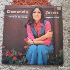 Discos de vinilo: LP. CLEMENCIA TORRES. CANCION PARA UNA ESPOSA TRISTE. AÑO 1975. Lote 140075702