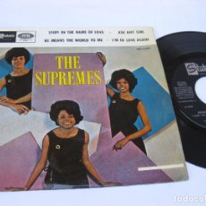 Discos de vinilo: THE SUPREMES - EP SPAIN PS - STOP! IN THE NAME OF LOVE - STATESIDE LSE 6022 - AÑO 1965. Lote 140086362