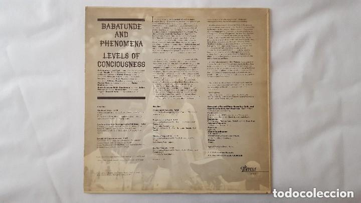 Discos de vinilo: BABATUNDE AND PHENOMENA - LEVELS OF CONCIOUSNESS - THERESA TR 107 - 1979 - USA Compartir lote - Foto 3 - 140108394