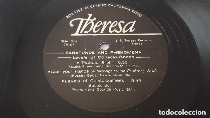 Discos de vinilo: BABATUNDE AND PHENOMENA - LEVELS OF CONCIOUSNESS - THERESA TR 107 - 1979 - USA Compartir lote - Foto 4 - 140108394