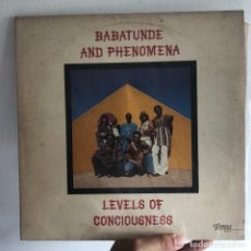Discos de vinilo: BABATUNDE AND PHENOMENA - LEVELS OF CONCIOUSNESS - THERESA TR 107 - 1979 - USA COMPARTIR LOTE. Lote 140108394