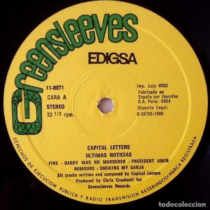 Discos de vinilo: CAPITAL LETTERS : HEADLINE NEWS [ESP 1980] LP - Foto 4 - 140118098