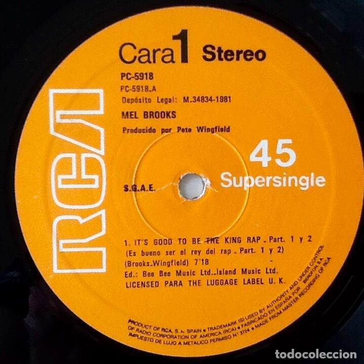 Discos de vinilo: MEL BROOKS : ITS GOOD TO BE THE KING PART 1 & 2 [ESP 1981] 12 - Foto 4 - 140118954