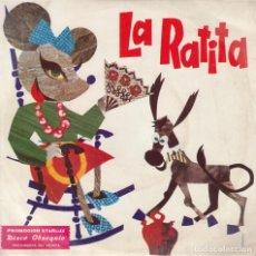 Discos de vinilo: LA RATITA. CUENTO INFANTIL, SINGLE, OBSEQUIO DE STARLUX, EDITADO EN 1974. Lote 140119482