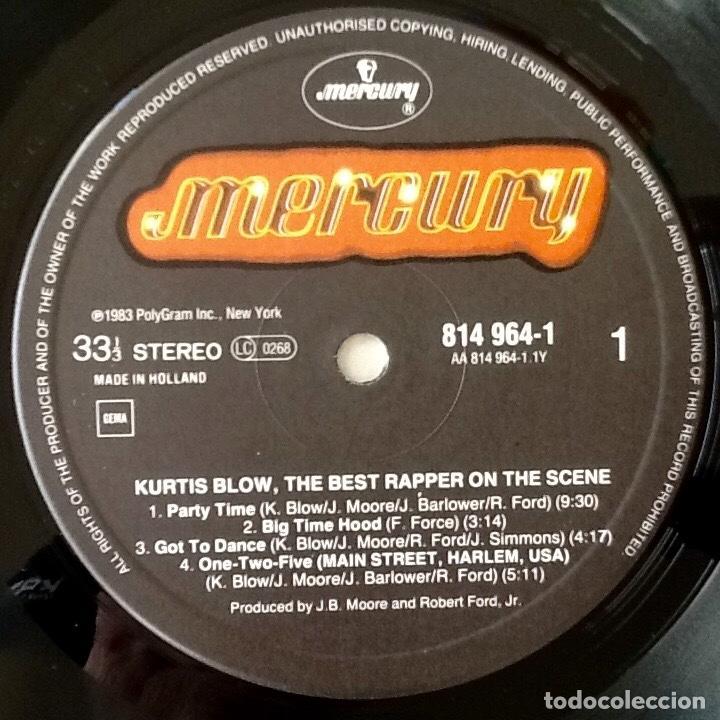 Discos de vinilo: KURTIS BLOW : THE BEST RAPPER ON THE SCENE [NDL 1982] LP/COMP - Foto 3 - 140120834