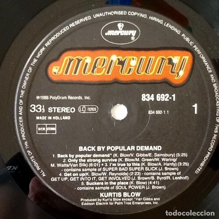Discos de vinilo: KURTIS BLOW : BACK BY POPULAR DEMAND [NDL 1988] LP - Foto 3 - 140124624