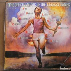 Discos de vinilo: VARIOUS – THE OFFICIAL MUSIC OF THE 1984 GAMES - CBS 1984 - LP - IBL. Lote 140141682