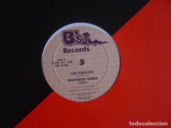Discos de vinilo: Lady Equalizer - Independent Woman - MAXI-SINGLE 33 - USA - Bs Records - Foto 3 - 140146170