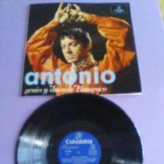 Discos de vinilo: MARAVILLOSO LP.ORIGINAL. ANTONIO GENIO Y DUENDE FLAMENCO. AÑO 1973 .COLUMBIA CP 9182.. Lote 140150734