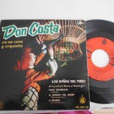 Discos de vinilo: DON COSTA-EP LOS NIÑOS DEL PIREO +3. Lote 140153150