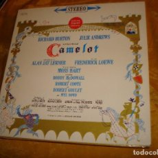 Discos de vinilo: CAMELOT. RICHARD BURTON, JULIE ANDREWS. MUSICAL ORIGINAL BROADWAY. EDC. USA.. Lote 140155306
