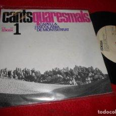 Discos de vinil: CAPELLA MONTSERRAT CANTS QUARESMALS.SALM 50 PIETAT SENYOR/PREGARIES PERDO EP CATALA CHOIR XIAN. Lote 140163566
