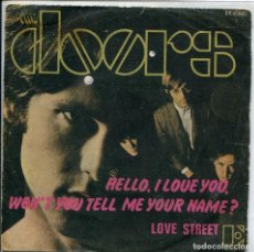 Discos de vinilo: THE DOORS / HELLO, I LOVE YOU / WON'T YOU TELL ME YOUR NAME? (SINGLE 1968). Lote 140164714