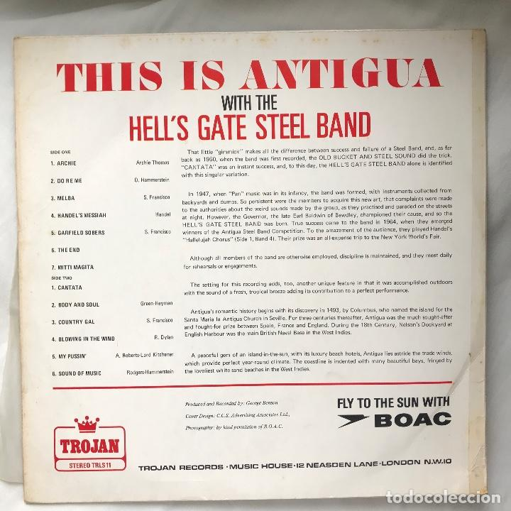 Discos de vinilo: LP_Hells Gate Steel Band / This Is Antigua_1969_Reggae_calypso - Foto 2 - 140189890