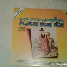 Discos de vinilo: TIERRA CANARIA. ANTOLOGÍA DEL FOLKLORE DE LAS ISLAS (ESPAÑA, 1981). Lote 140195270