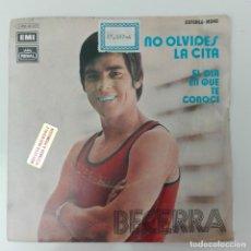 Discos de vinilo: BECERRA - NO OLVIDES LA CITA 1972 SINGLE JUGADOR ATLÉTICO DE MADRID. Lote 196034710