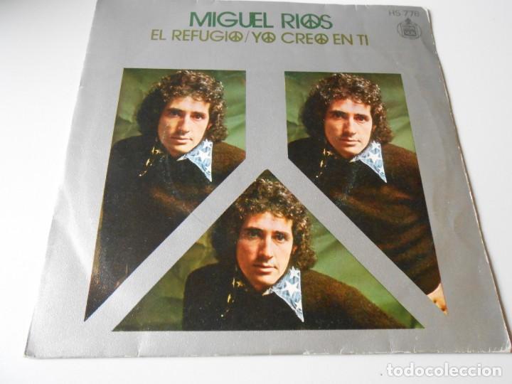 MIGUEL RÍOS, SG, EL REFUGIO + 1, AÑO 1971 (Música - Discos - Singles Vinilo - Solistas Españoles de los 70 a la actualidad)