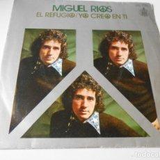 Discos de vinilo: MIGUEL RÍOS, SG, EL REFUGIO + 1, AÑO 1971. Lote 140237274
