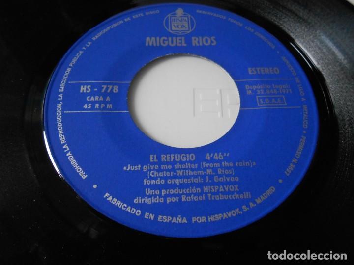 Discos de vinilo: MIGUEL RÍOS, SG, EL REFUGIO + 1, AÑO 1971 - Foto 3 - 140237274
