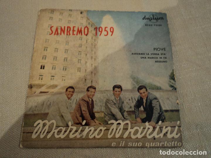 MARINO MARINI (PIOVE +3) EP ESPAÑA 1959 SAN REMO (Música - Discos - Singles Vinilo - Otros Festivales de la Canción)