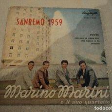 Discos de vinilo: MARINO MARINI (PIOVE +3) EP ESPAÑA 1959 SAN REMO. Lote 140249870