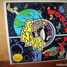 Discos de vinilo: SNAP - WORLD POWER - LP 1990. Lote 140254378