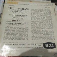 Discos de vinilo: EP VICO TORRIANI PEPINO RENATA PIANO. Lote 140246118