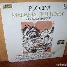 Discos de vinilo: PUCCINI - MADAMA BUTTERFLY (FRAGMENTOS)- DIRECTOR ANGELO QUESTA - LP . Lote 140265382