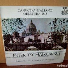 Discos de vinilo: CAPRICHO ITALIANO OBERTURA 1812 - TSCHAIKOWSKY - DIRECTOR THOMAS SCHERMAN - LP C.DE LECTORES. Lote 140269258