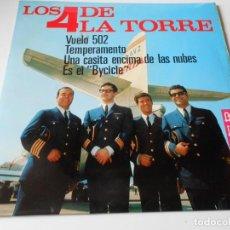 Discos de vinilo: 4 DE LA TORRE, EP, VUELO 502 + 3, AÑO 1966. Lote 140275490