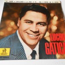 Discos de vinilo: LUCHO GATICA, EP, AY, CARIÑO + 3, AÑO 1963. Lote 140277282