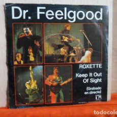 Discos de vinilo: DR.FEELGOOD -ROXETTE -KEEP IT OUT OF SIGHT-. Lote 140281702