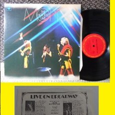 Discos de vinilo: MOTT THE HOOPLE / LIVE HAMMERSMITH 1974 ( ALL THE YOUNG DUDES ) USA EDIT ORG, PROMOCIONAL, IMPECABLE. Lote 42795263