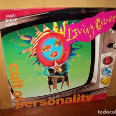 Discos de vinilo: LIVING COLOUR - CULT OF PERSONALITY - MAXI SINGLE. Lote 140296770