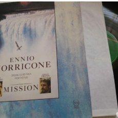 Discos de vinilo: ENNIO MORRICONE LA MISIÓN. Lote 140297966