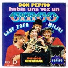 Discos de vinilo: GABY, FOFO Y MILIKI CON FOFITO. HABIA UN VEZ UN CIRCO. SN- 20.848 MOVIEPLAY 1974 DISCO. Lote 140308282