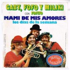 Discos de vinilo: GABY, FOFO Y MILIKI CON FOFITO. MAMI DE MIS AMORES. SN- 20.869 MOVIEPLAY 1974 DISCO. Lote 140308542