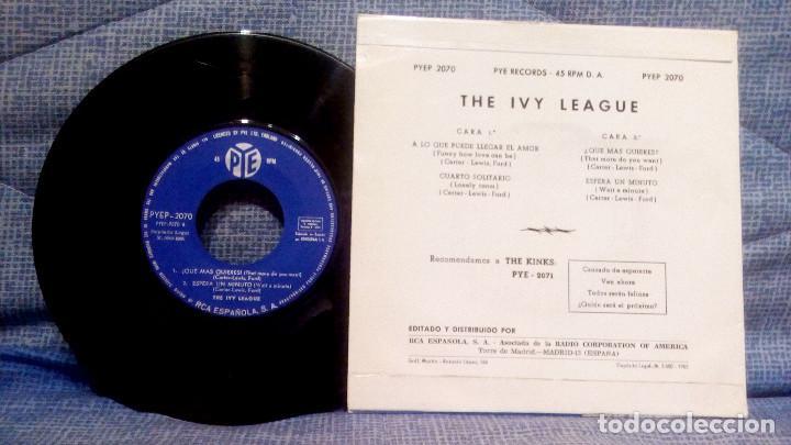 Discos de vinilo: THE IVY LEAGUE - A LO QUE PUEDE LLEGAR EL AMOR + 3 - EDICION ESPAÑOLA - PYE 1965 ESTADO COMO NUEVO - Foto 2 - 140314766